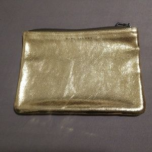 Marc Jacobs Gold Leather Clutch